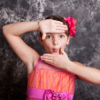 Young Girl using hands to frame her face — Stock Photo #40784175