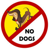 Warning sign No dogs allowed isolated on white — Stock Vector