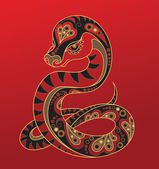 Year of the Snake. Chinese horoscope animal sign — Stock Vector