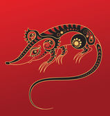 Year of the Rat. Chinese horoscope animal sign — Stock Vector