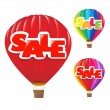 Sale Air Balloon - Stock Vector