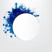Fondo grunge con burbuja discurso azul — Vector de stock