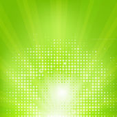 Eco Green Background With Sunburst — Stock Vector