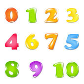 Number Set — Stock Vector