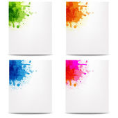 Set Banners With Color Blob — Stock Vector