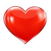 Gran corazón rojo — Vector de stock