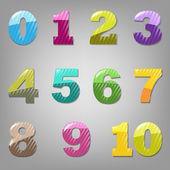 Cartoon Numbers Set — Stock Vector