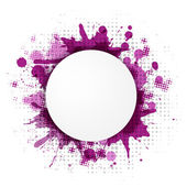 Abstract Violet Bubble With Blobs — Stock Vector