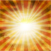 Retro Square Shaped Sunburst — Stock Vector