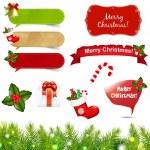 Big Christmas Icons Set With Border — Stock Vector #15381239