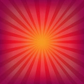 Red And Orange Background With Sunburst — Stock Vector