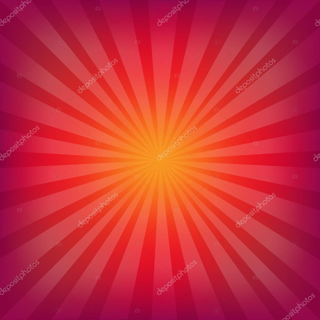 Red And Orange Background With Sunburst With Gradient Mesh, Vector Illustration — Stock Vector #15412939