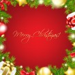 Merry Christmas Red Wallpaper — 图库矢量图片