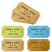 Bilet kino — Wektor stockowy