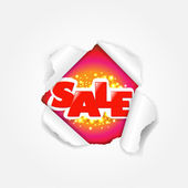 Sale Torn — Stock Vector