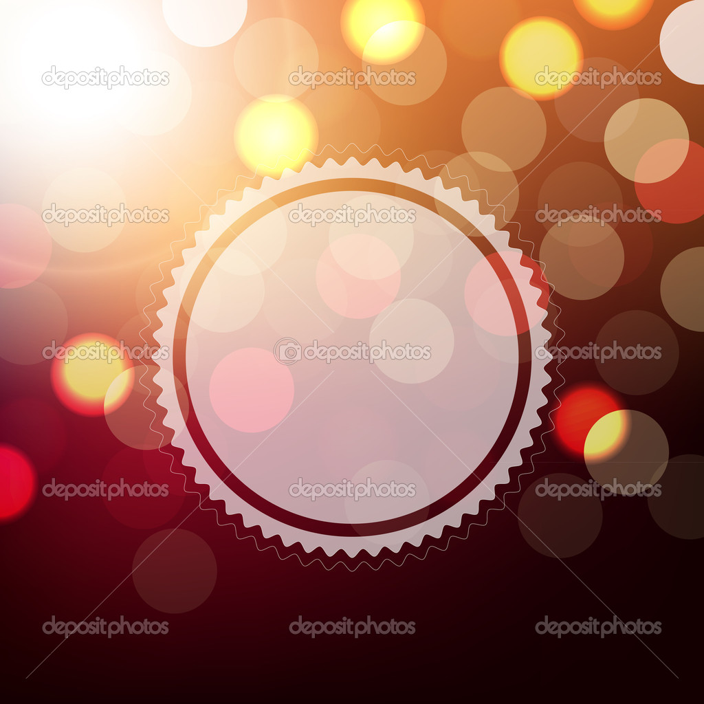 Background With Bokeh And Sphere With Gradient Mesh, Vector Illustration — Stock Vector #19166655