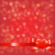 Red Bokeh Background With Bow — Imagen vectorial