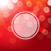 Red Background With Bokeh And Sphere — Stock Vector