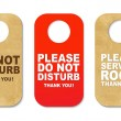 Do Not Disturb Sign Set - Stock Vector