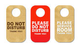 Do Not Disturb Sign Set — Stock Vector