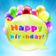 Birthday Day Card With Colorful Balloons — Stock Vector #24679423