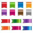 Big Sale Color Ribbons Set — Stock Vector