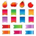 Big Sale Colorful Labels Set — Stock Vector