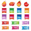 Stock Vector: Big Sale Colorful Labels Set