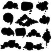 Black Speech Bubble — Stock Vector