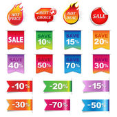 Big Sale Colorful Labels Set — Stock Vector