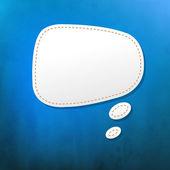 Texture bleu avec bulle de dialogue — Vecteur