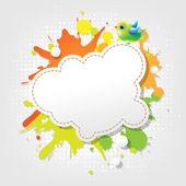 Pájaro de burbujas de discurso abstracto — Vector de stock