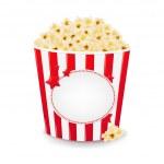 Popcorn In Cardboard Box — Stock Vector