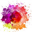 Watercolor Blot Abstract Background — Stock Vector