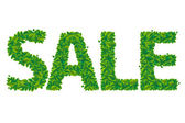 Sale Text With Leaves — Stockvector
