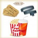 Cinema Set — Stock Vector #34957647