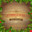 Xmas Wood Background — Stock Vector #34957961