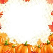Orange Pumpkins Frame — Stock Vector