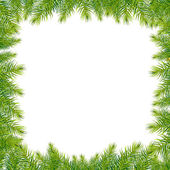 Christmas Green Framework — 图库矢量图片