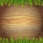Xmas Wood Background — Stockvektor