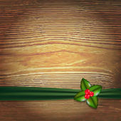 Christmas Wood Background — Vettoriale Stock