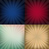 Sunburst Backgrounds — Stock Vector
