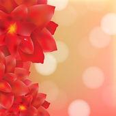 Цветы с каплями воды — Cтоковый вектор