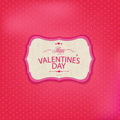 Pink Valentines Day Card — Stock Vector