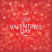 Valentines Day Red Bokeh Background — Stock Vector