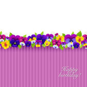 Background With Color Pansies — Stock Vector