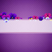 Violet Pansies Flowers — Vector de stock