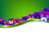 Card Flowers Pansies — Stockvektor