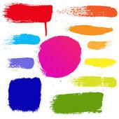 Colorful Blots Set — Stock Vector