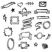 Hand Draw Symbols — Stock Vector